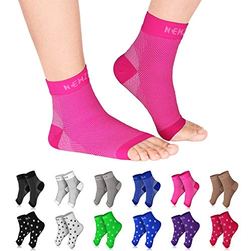 NEWZILL Plantar Fasciitis Socks with Arch Support, Best 24/7 Foot Care Compression Sleeve, Eases Swelling & Heel Spurs, Ankle Brace Support, Increases Circulation, Relieve Pain Fast (S/M, Pink)