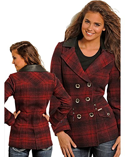 Double Breasted Plaid Coat - 8