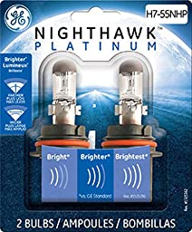 GE H7-55NHP/BP2 Nighthawk PLATINUM Replacement Bulb, (Pack of 2)