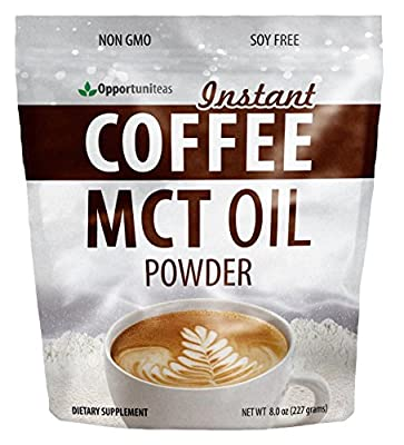 Premium Instant Coffee + Creamy MCT Oil Powder - Delicious Breakfast Drink Mix For Early Mornings, Workouts, Travel, or Busy People - High Fat Low Carb Supplement For Energy - 8 oz from Opportuniteas