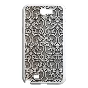 Baroque Silver Pattern Samsung Galaxy N2 7100 Cell Phone Case White&Phone Accessory STC_198999