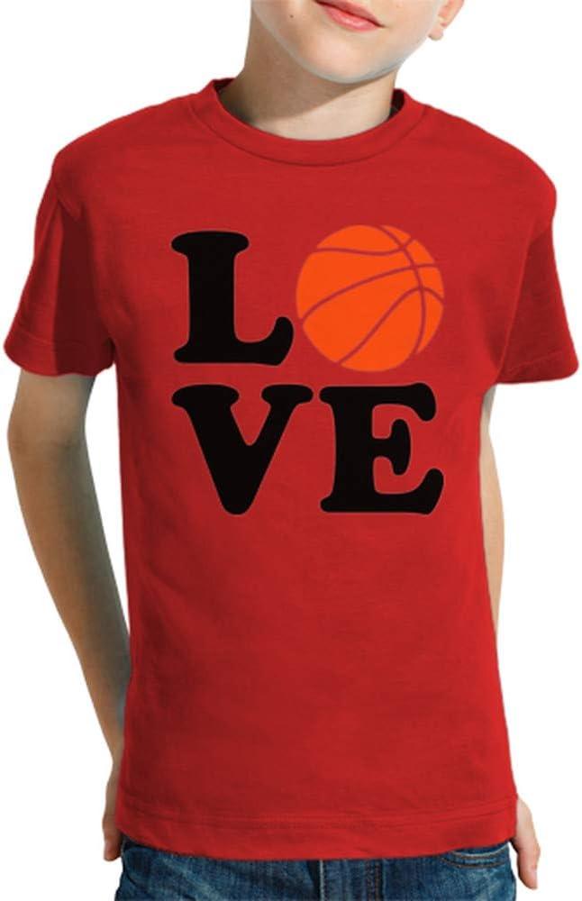 latostadora - Camiseta Amor de Baloncesto para Nino y Nina Rojo L ...