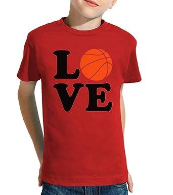 latostadora - Camiseta Amor de Baloncesto para Nino y Nina Rojo XL ...
