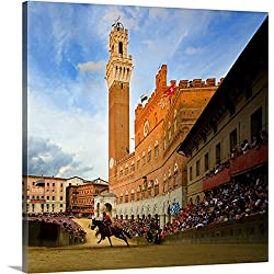 Stefano Brozzi Premium Thick-Wrap Canvas Wall Art Print entitled Italy, Tuscany, Siena, Palio