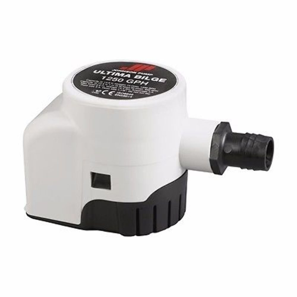 Marine 32-47261-002 MD Johnson Ultima Bilge Pumps 1250 GPH Dura-Ports 12 Volt