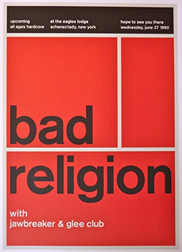Bad Religion - Live at the Eagles' Lodge 1990 - Concert Gig Poster - 10