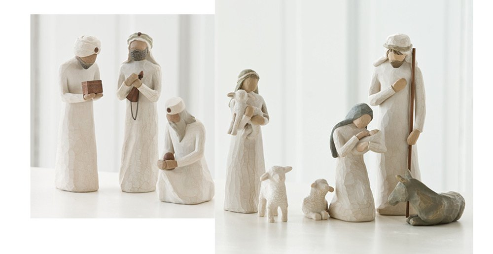 Willow Tree Nativity Holy Family and 3 Wisemen Set of 9 Figures