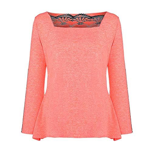 966b4772aa447 Amazon.com  Hanican Women Plus Size Tops Lace Splice Blouse Square Neck  Solid Color T Shirt  Clothing