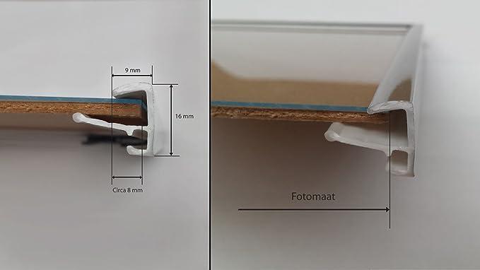 Ici Noir Mat avec Verre Acrylique Homedecoration Easy Cadre en Mati/ère Plastique 60x85 cm 85x60 cm Choix de Couleur