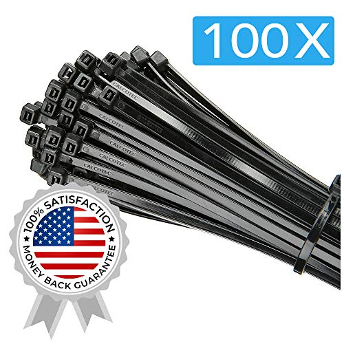 (100 Pack of Black Cable Ties - 12