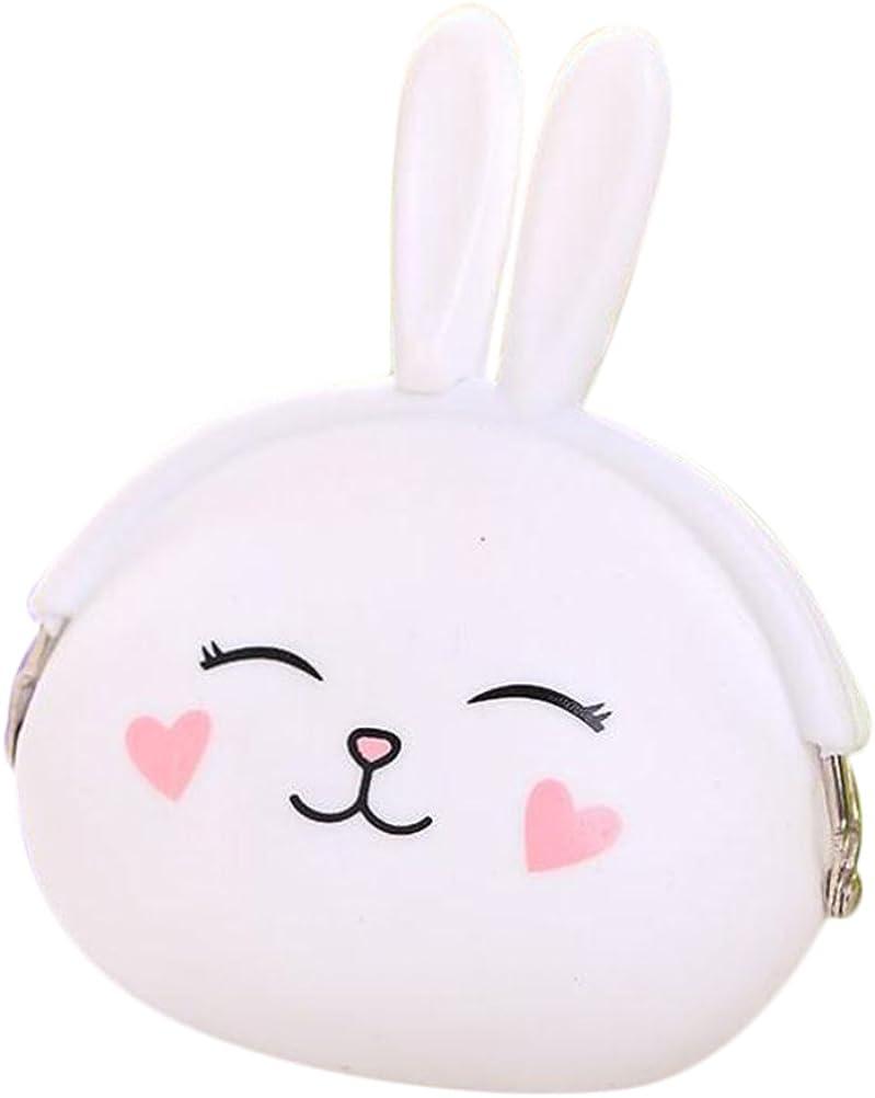 Vi.yo mignon lapin en forme de pi/èce poche pour Lady Girls enfants fait avec Silicone pur changement de couleur porte-monnaie porte-monnaie cl/é poche