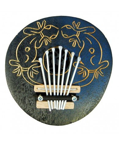 Thumb Pianos - Coconut Kalimba Wooden Hand Carved, Hand Painted Musical Instruments - (INS-TPC)