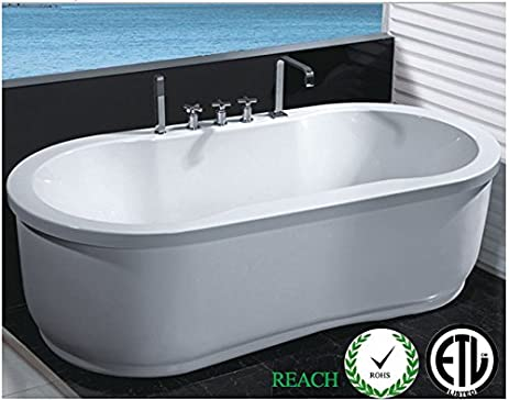 Indoor whirlpool  Freestanding Jetted Massage Hydrotherapy Bathtub, Indoor Whirlpool ...