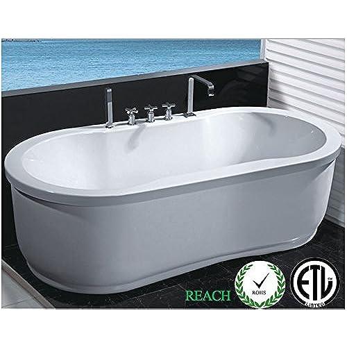 stand alone whirlpool tub. Freestanding Jetted Massage Hydrotherapy Bathtub  Indoor Whirlpool Hot Bath Tub Amazon Com