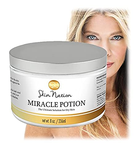 Miracle Potion - The Ultimate Solution for Dry Skin! 100% Organic Mango Butter & Coconut Oil! Skin Nation by Michelle (Beauty Renew Illuminating)