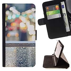 For Samsung Galaxy S5 V SM-G900 Case , Luces de la ciudad Nyc tráfico Coches- la tarjeta de Crédito Slots PU Funda de cuero Monedero caso cubierta de piel