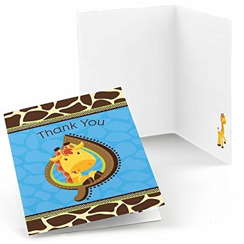 - Big Dot of Happiness Giraffe Boy - Baby Shower or Birthday Party Thank You Cards (8 Count)