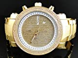 JoJino NEVADA MJ-1104. 53.70 MM . ROUND. MENS Diamond Watch. (YELLOW)