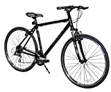 XDS Men's Cross 300 24-Speed Hybrid Bicycle, 52cm, Jet Black