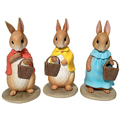 Ultimate Source Flopsy, Mopsy, and Cottontail for Miniature Garden, Fairy Garden