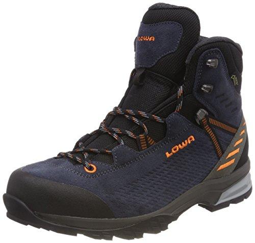 Lowa Arco GTX Mid, Stivali da Escursionismo Alti Uomo Blu (Navy/Orange 6910)