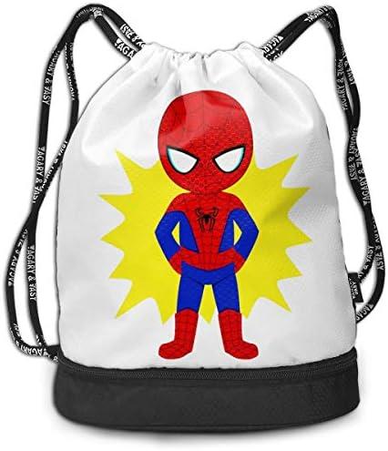 メンズ レディース 兼用スパイダーマン1 ナップサック アウトドア ジムサック 防水仕様 バッグ 巾着袋 スポーツ 収納バッグ 軽量 バッグ 登山 自転車 通学・通勤・運動 ・旅行に最適 アウトドア 収納バッグ