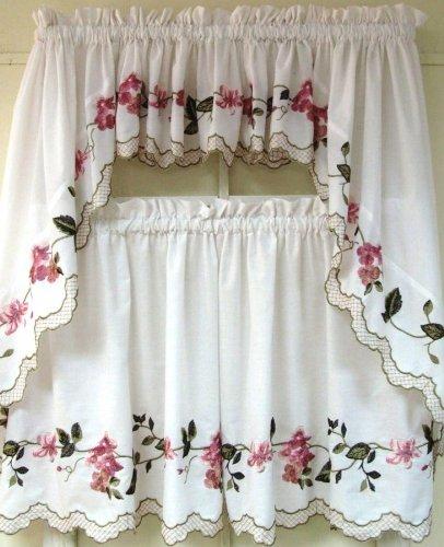 PDK/Regency Floral Trellis Window Treatment Swag, 56 by 38-inch