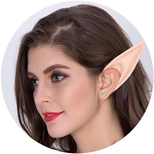 Aifeer Anime Large Pointed Elf Ears Soft Cosplay Costumes for Halloween (Spirit Wear Halloween Costumes)