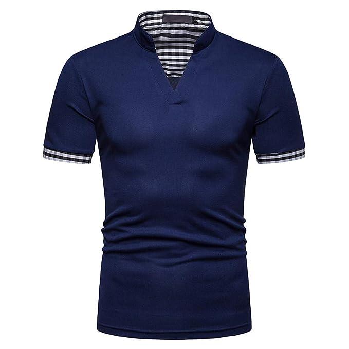 YpingLonk_ Camisetas de Hombre Camisa Polo, Sencillo Mangas de Trabajo Europa y America Style Casual