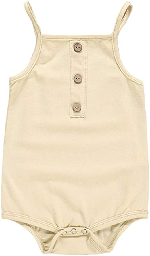 Summer Newborn Infant Baby Girls Boy Linen Romper Outfits Jumpsuit Bodysuit US