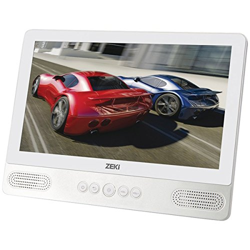Zeki TBDV986W Android Tablet with Built-In DVD Player, 8GB, Includes Micro-USB to USB Cable, Headrest Strap, Earbuds, Power Adapter - 9 Inch
