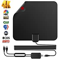 Freeview TV Antenna,Best 75 Miles Lesoom TV Indoor HDTV Digital Antenna for Local Channels 4K HD VHF UHF with Detachable Ampliflier Signal Booster Highest Performance Cable Support ALL Formats