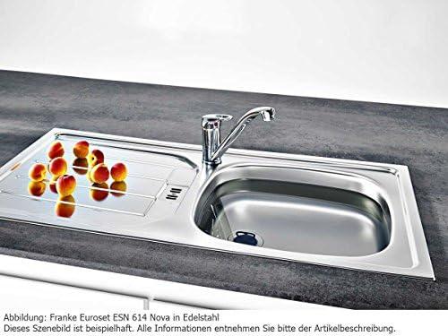 FRANKE ETL 614i Nova Euroform /Évier de cuisine encastr/é en acier inoxydable Gris