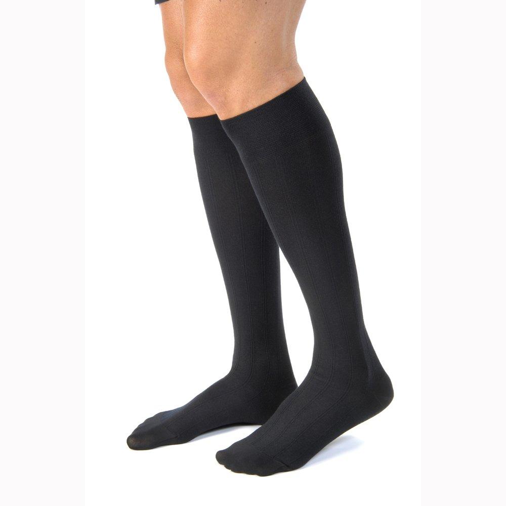 BI113117 - Bsn Jobst Knee-High Mens CasualWear Compression Socks Medium, Black
