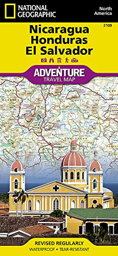 Nicaragua, Honduras, and El Salvador (National Geographic Adventure Map) (Best Places In El Salvador)
