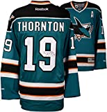 Joe Thornton San Jose Sharks Autographed Teal Reebok Premier Jersey - Fanatics Authentic Certified - Autographed NHL Jerseys