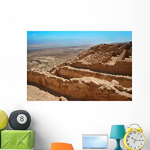 Masada Site Israel Wall Mural by Wallmonkeys Peel and Stick Graphic (48 in W x 32 in H) - Israel Site