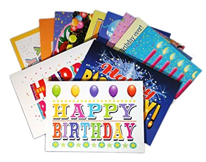 birthday card assorted pack boxed set of 24 cards envelopes blank cards - Birthday Card Packs