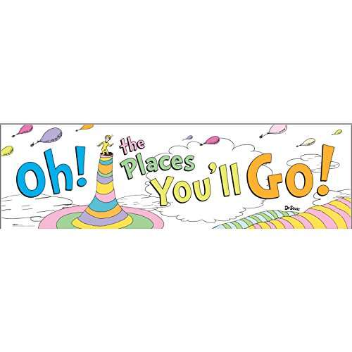 BirthdayExpress Dr. Seuss Oh The Places You'll Go Graduation Party Supplies Banner -
