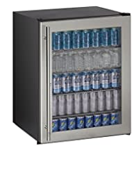 U-Line UADA24RGLS13B ADA Series Counter Depth Compact Refrigerator with 5.3 cu. ft. Capacity, in Stainless Steel