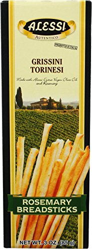 Alessi Rosemary Breadsticks, 3-Ounce Boxes (Pack of 12)