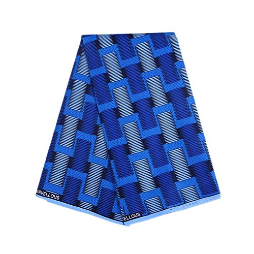 Fabric - Wax African Fabric Print Cloth 6yard Lot Diy Sewing Wholesale Super Java Ankara Dress 113 550cm - Under Drawstring Knuckle Box Ottoman 42mm Band Interfacing Yardage Scissors