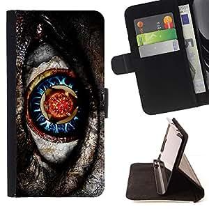 For Sony Xperia Z5 Compact Z5 Mini (Not for Normal Z5) Case , Nativo de ciencia ficción misteriosa Gris Patrón- la tarjeta de Crédito Slots PU Funda de cuero Monedero caso cubierta de piel