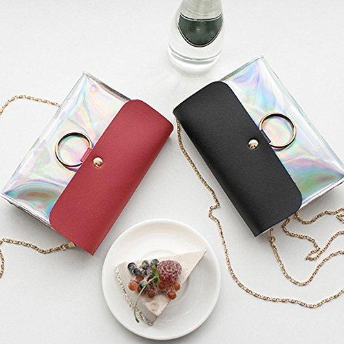 gelée match la tout mode sac téléphone à portable bandoulière à bandoulière sac de changement Rouge polyvalent à sac de polyvalent sac Mini RFwqf8