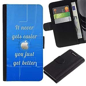 """Be-Star la tarjeta de Cr¨¦dito Slots PU Funda de cuero Monedero caso cubierta de piel Para Sony Xperia Z1 Compact / Z1 Mini (Not Z1) D5503 ( M¨¢s f¨¢cil nunca mejora inspirado de la cita"""" )"""