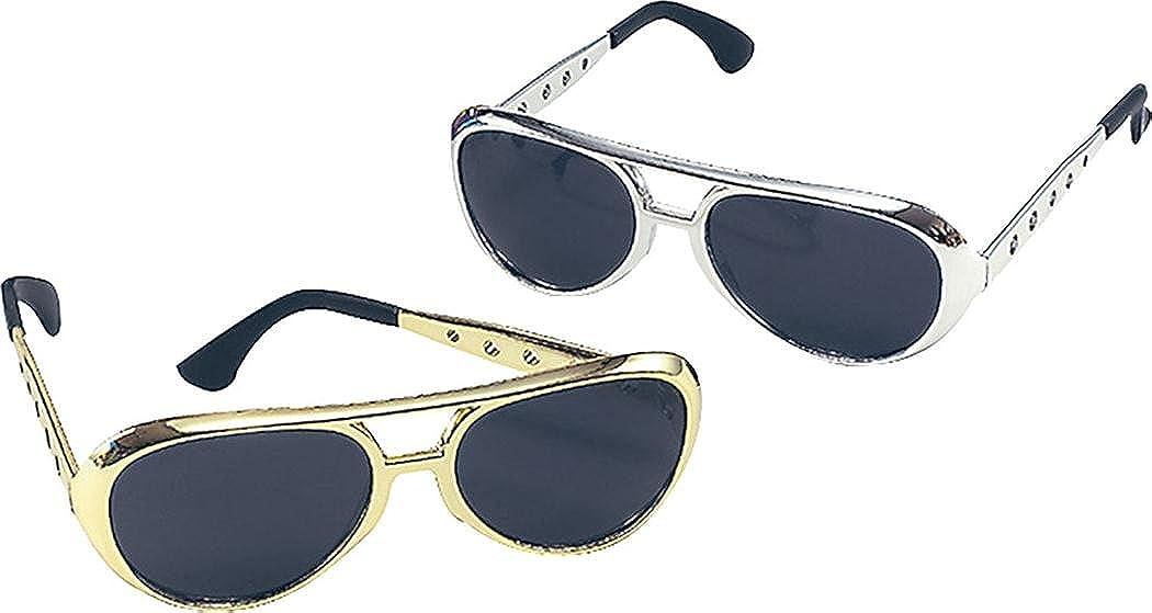 Mens Fancy Party Accessory Rock N Roll Rockstar Elvis Sunglasses Sold Single Elvis Sunglasses Gold Bristol Novelty