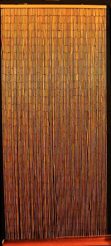 Bamboo Beaded Curtain Hawaiian Tropical Decor Natural Door Way Doorway Room Divider 90 Strands NT/BB-07 (Beaded Curtains Tropical)