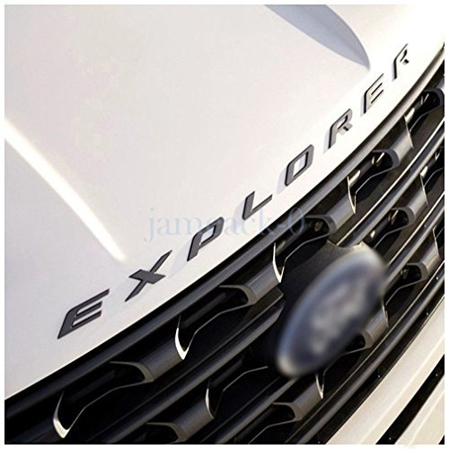 Exotic Store F-ERB 2011-2017 3D Metal (not Plastic) Fit for Ford Explorer Sport Chrome Black Front Hood Emblem Letters Badge Decal (Matte Black)