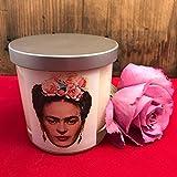 Frida Kahlo, ROSE Scented, Soy Candle, 8 oz - Handmade