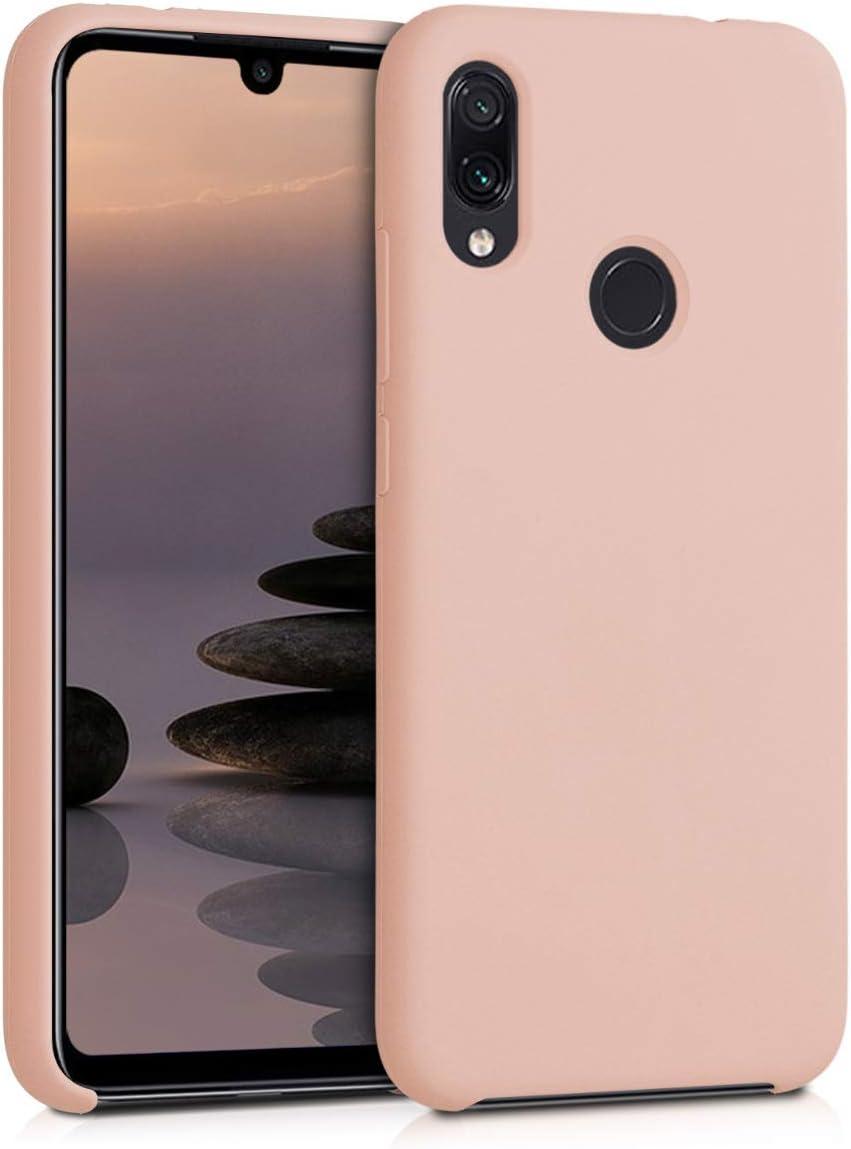 kwmobile Funda Compatible con Xiaomi Redmi Note 7 / Note 7 Pro - Carcasa de TPU para móvil - Cover Trasero en Rosa Palo Mate